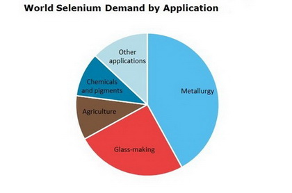 Selenium World Demand by Application